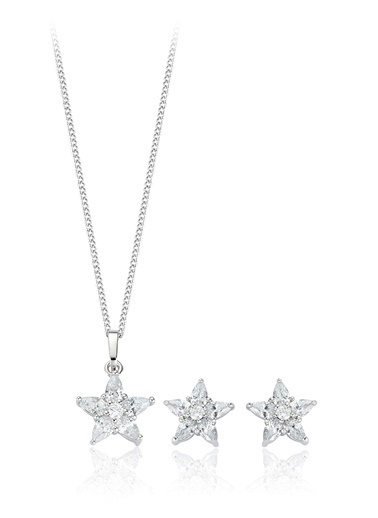 Tophills Diamond Co. 4,20 Ct Pırlanta Efekt  Altın Orion Yıldız Set Renkli